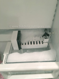 Sub-Zero-freezer-601F-model---repaired-in-Brentwood-CA-Feb-2016-photo-broken-and-leaking-ice-maker-4