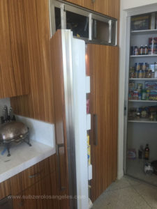 sub zero refrigerator 642 model repaired in Hollywood Hills this week November 2015 2