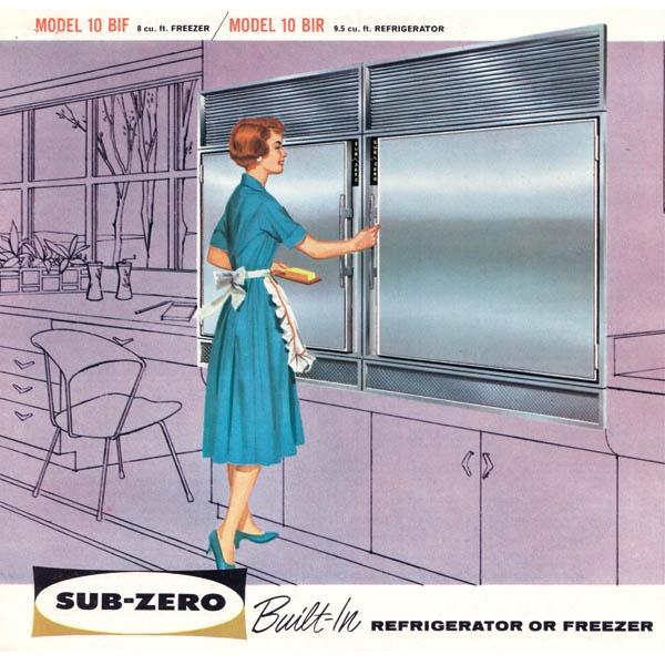 sub zero refrigerator historic