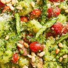 Cooking ideas:  Arugula Pesto Gnocchi with Asparagus and Parmesan