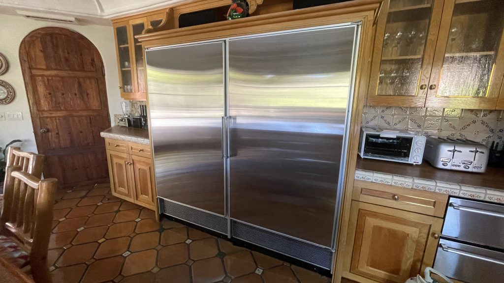 sub zeo fridge has a smell inside