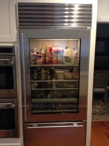 Sub-Zero-650-GS-model-refrigerator-repaired-in-Altadena-CA-April-2014-control-board-and-evaporator-fan-motor-replaced