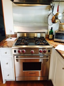 WOLF stove single oven repaired in Brenwtwood CA may 2015 2